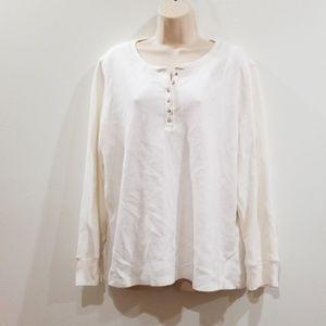 Laura Scott classic fit woman white blouse 16/18 W